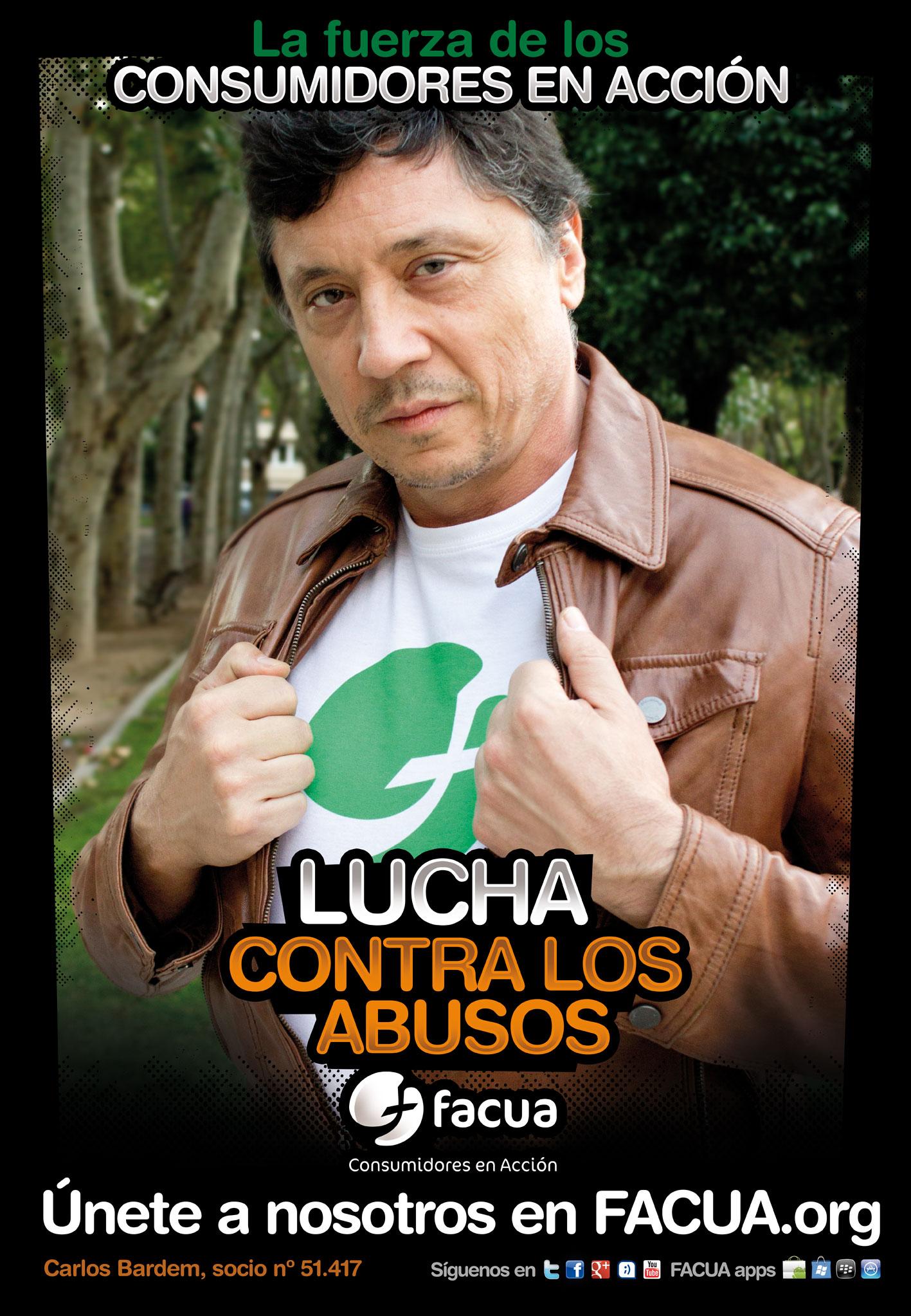 ¿Sabes que Carlos Bardem es socio de FACUA? Es uno de los #consumidoresenacción