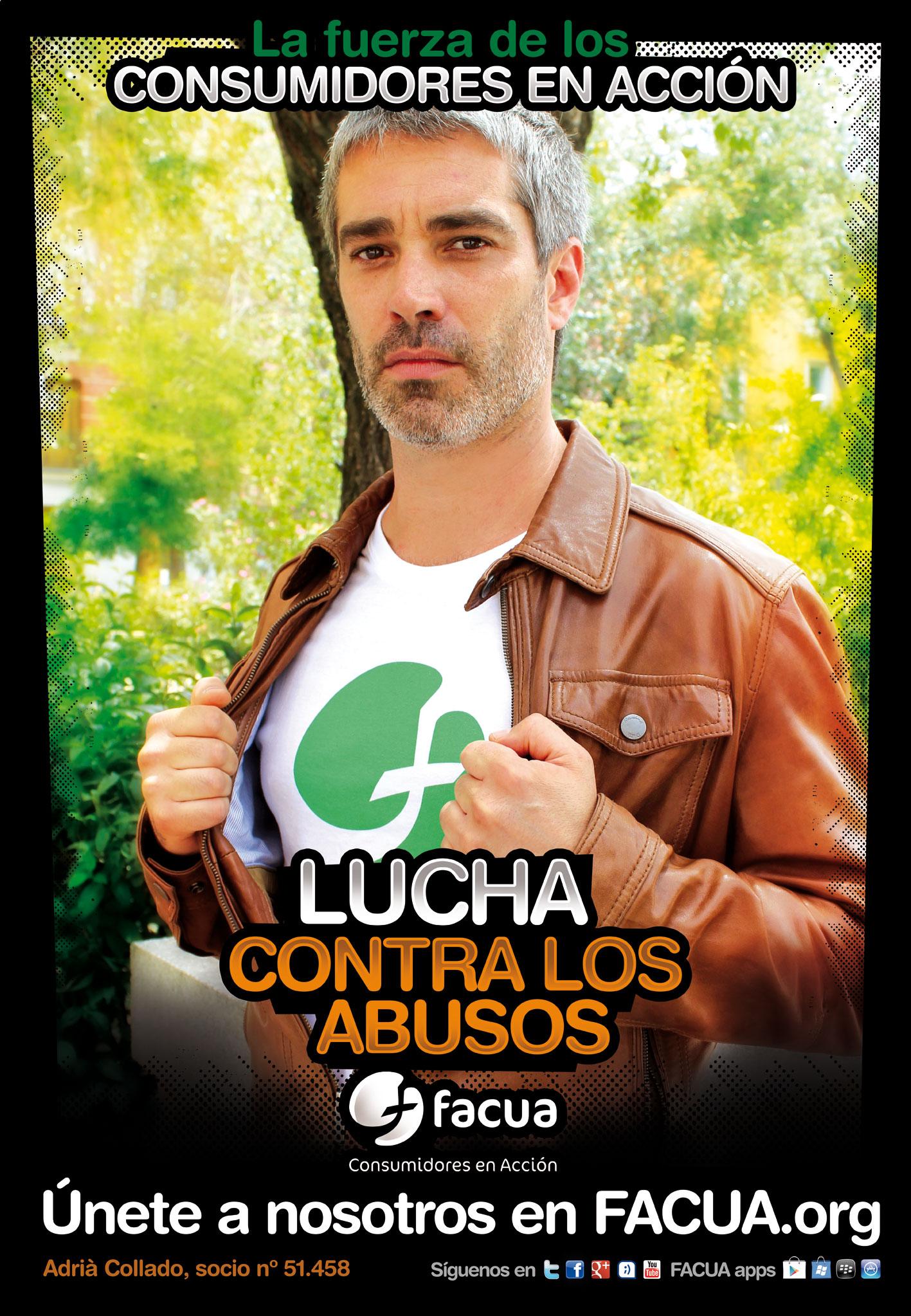 ¿Sabes que Adrià Collado es socio de FACUA? Es uno de los #consumidoresenacción