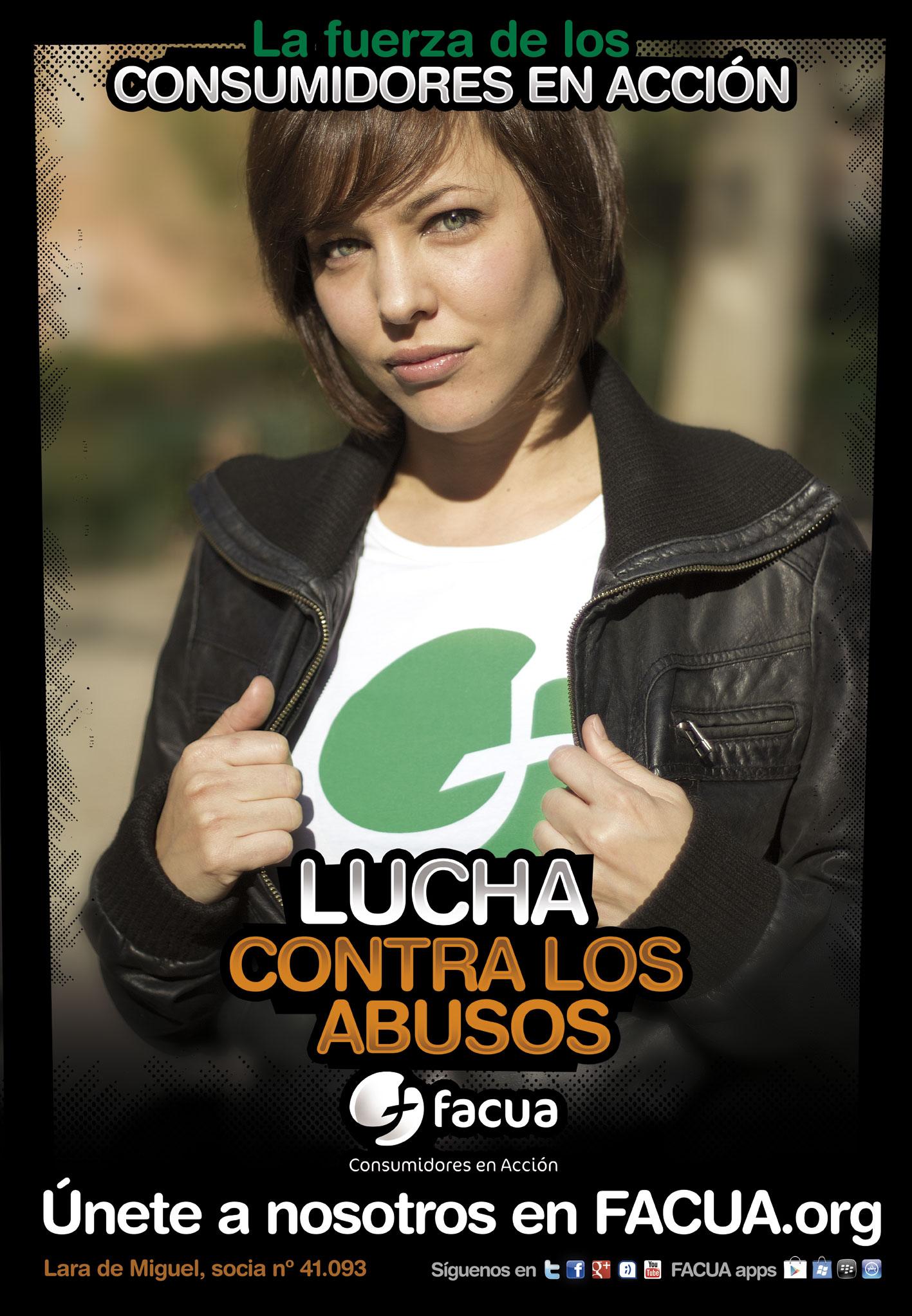 �Sabes que Lara de Miguel es socia de FACUA? Es uno de los #consumidoresenacci�n
