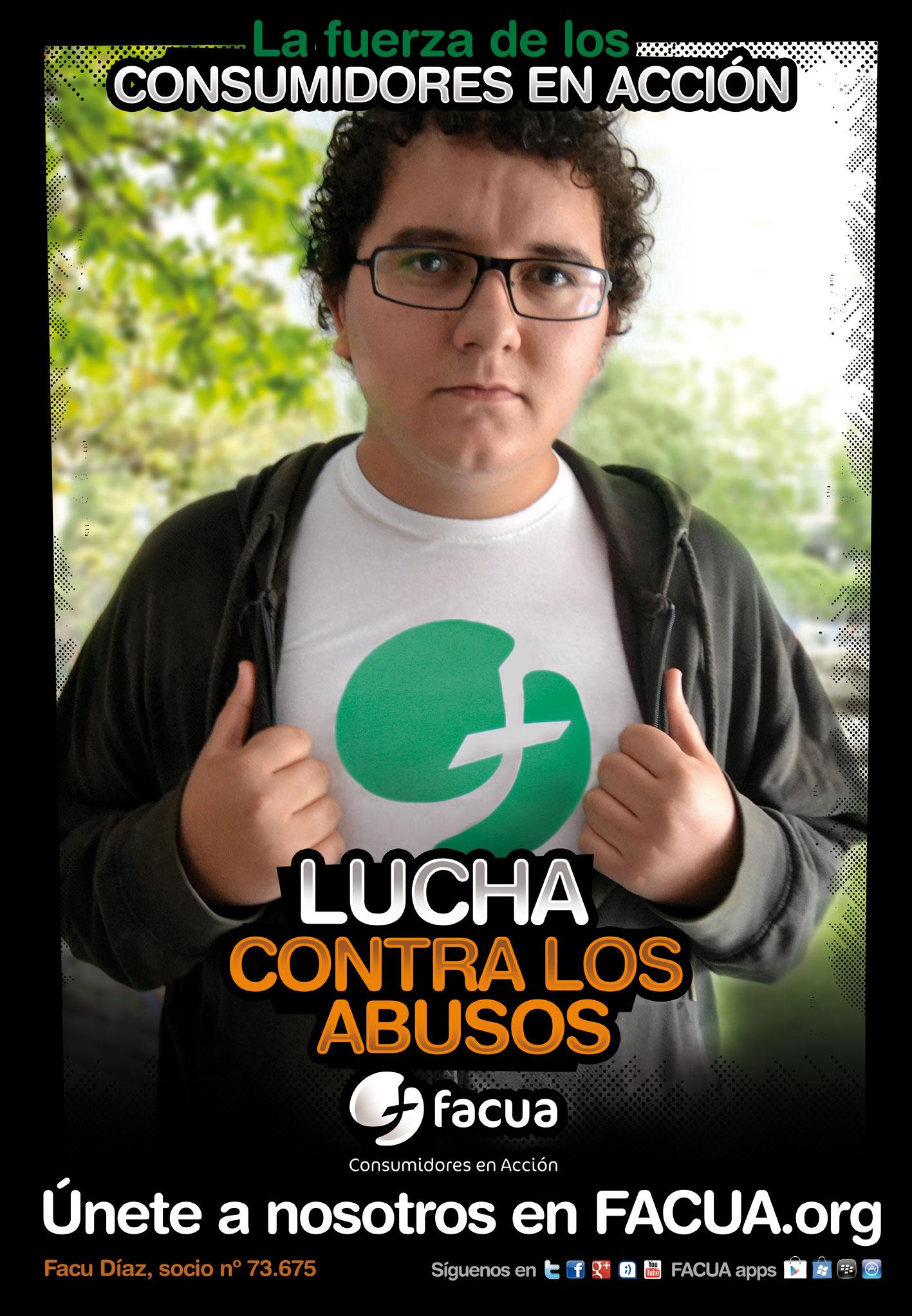 ¡Vaya! @FacuDiazT también se une a FACUA en la #luchacontralosabusos... ¡Sálvese quien pueda!