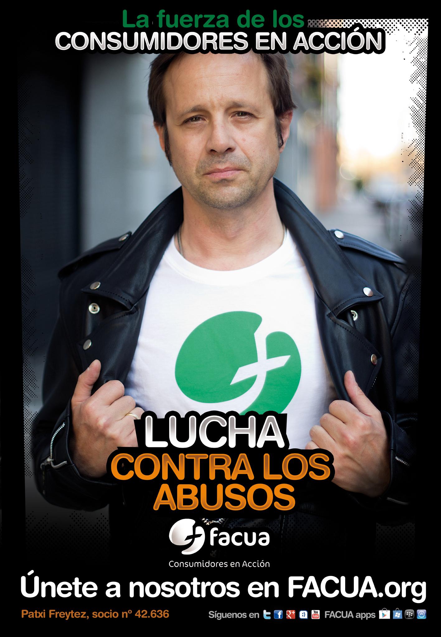 �Sabes que Patxi Freytez es socio de FACUA? Es uno de los #consumidoresenacci�n