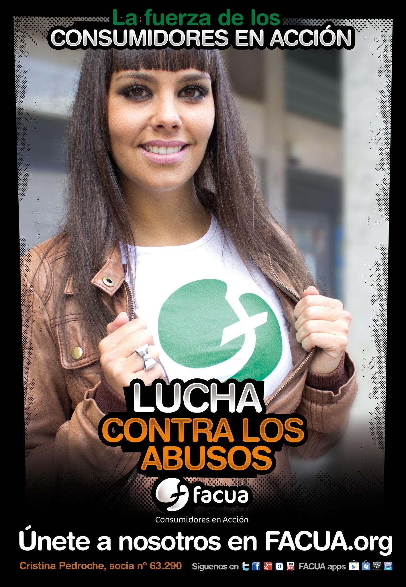 ¿Sabes que Cristina Pedroche es socia de FACUA? Es una de los #consumidoresenacción