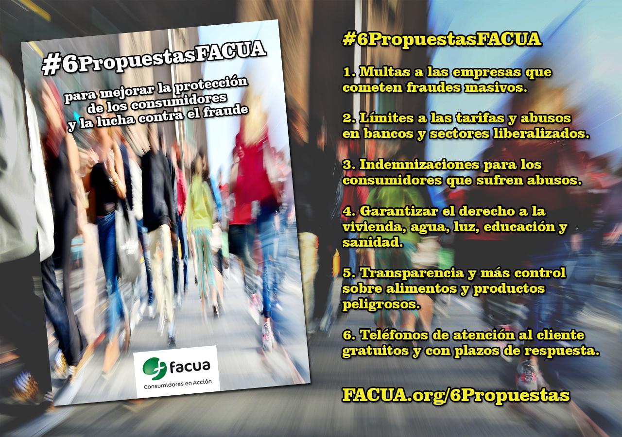 #6PropuestasFACUA para mejorar la protección a los consumidores y la lucha contra el fraude