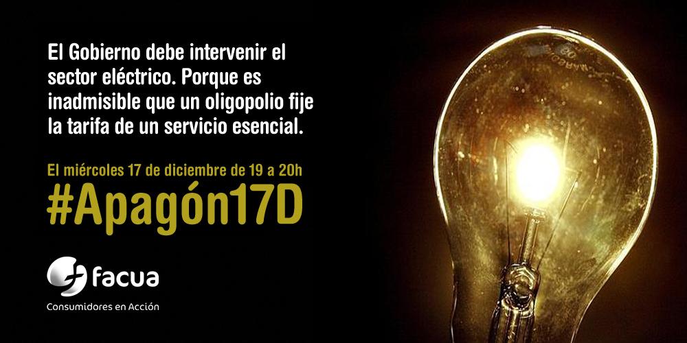 10 motivos para sumarnos al #Apagón17D contra la gran estafa eléctrica