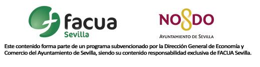 Logo FACUA Sevilla subvención Ayuntamiento Sevilla