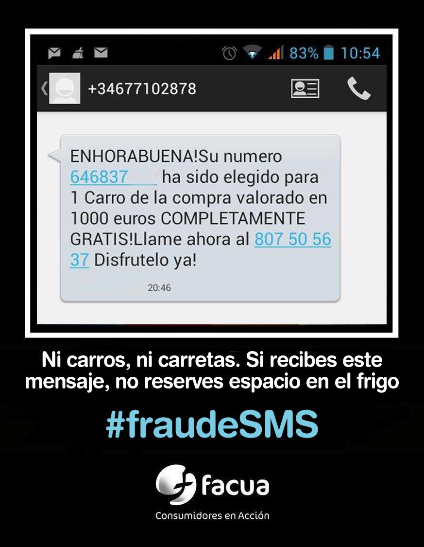 Ni carros ni carretas: si recibes este mensaje, no contestes, es un #fraudeSMS