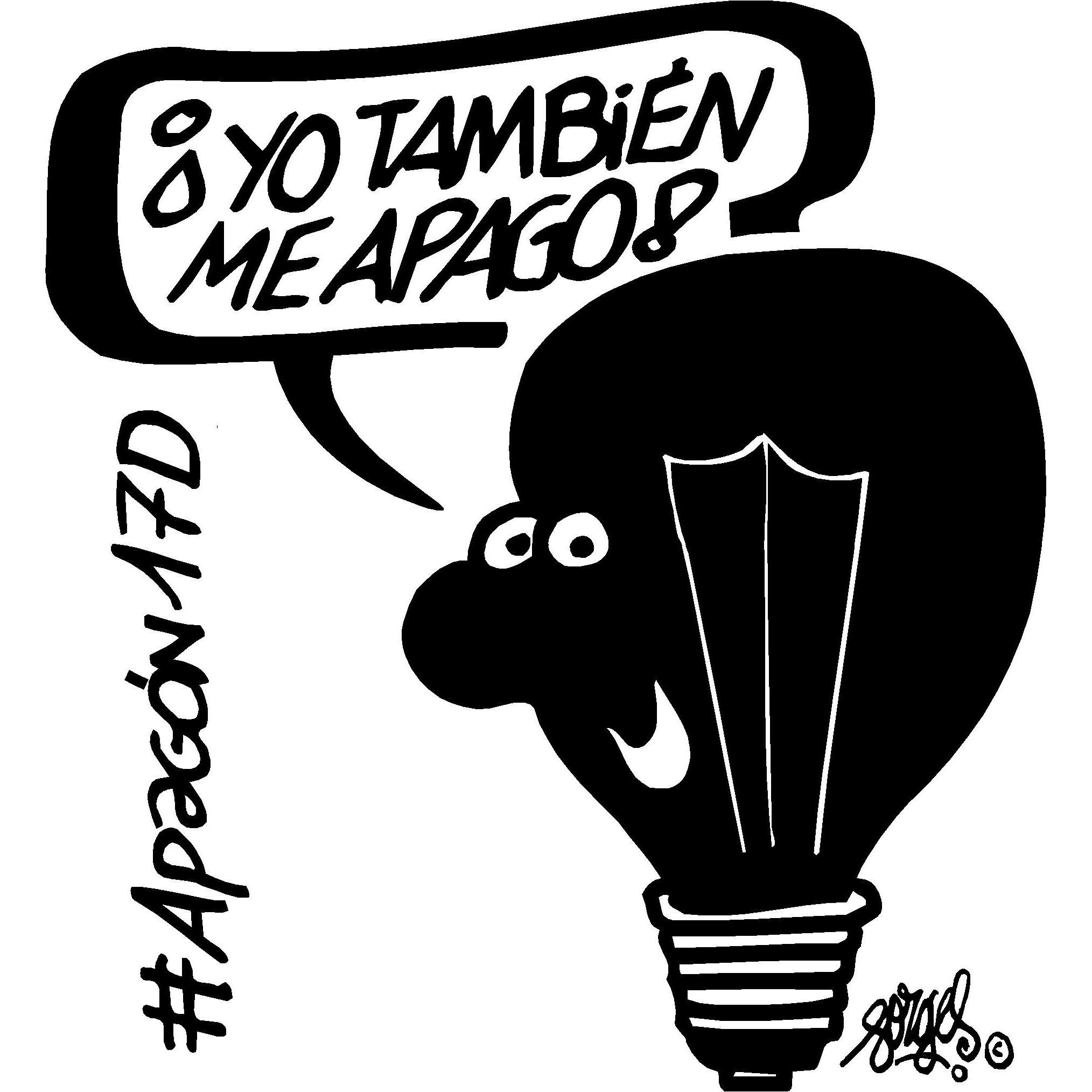 Cambia tu avatar en las redes sociales por el logotipo del #Apagón17D diseñado por Forges