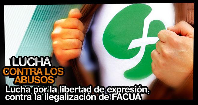 Por la libertad de expresión, contra la ilegalización de FACUA