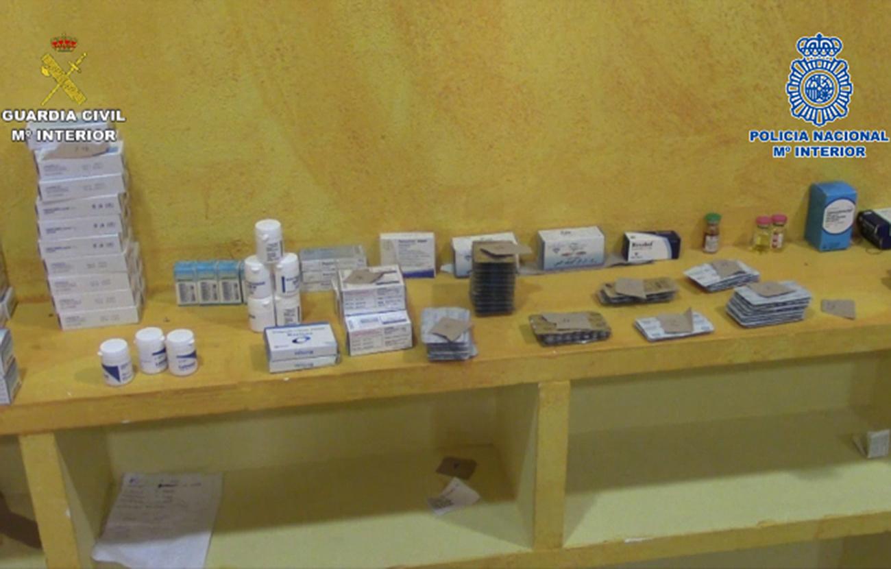 38 detenidos por falsificar y distribuir irregularmente medicamentos y otras sustancias prohibidas