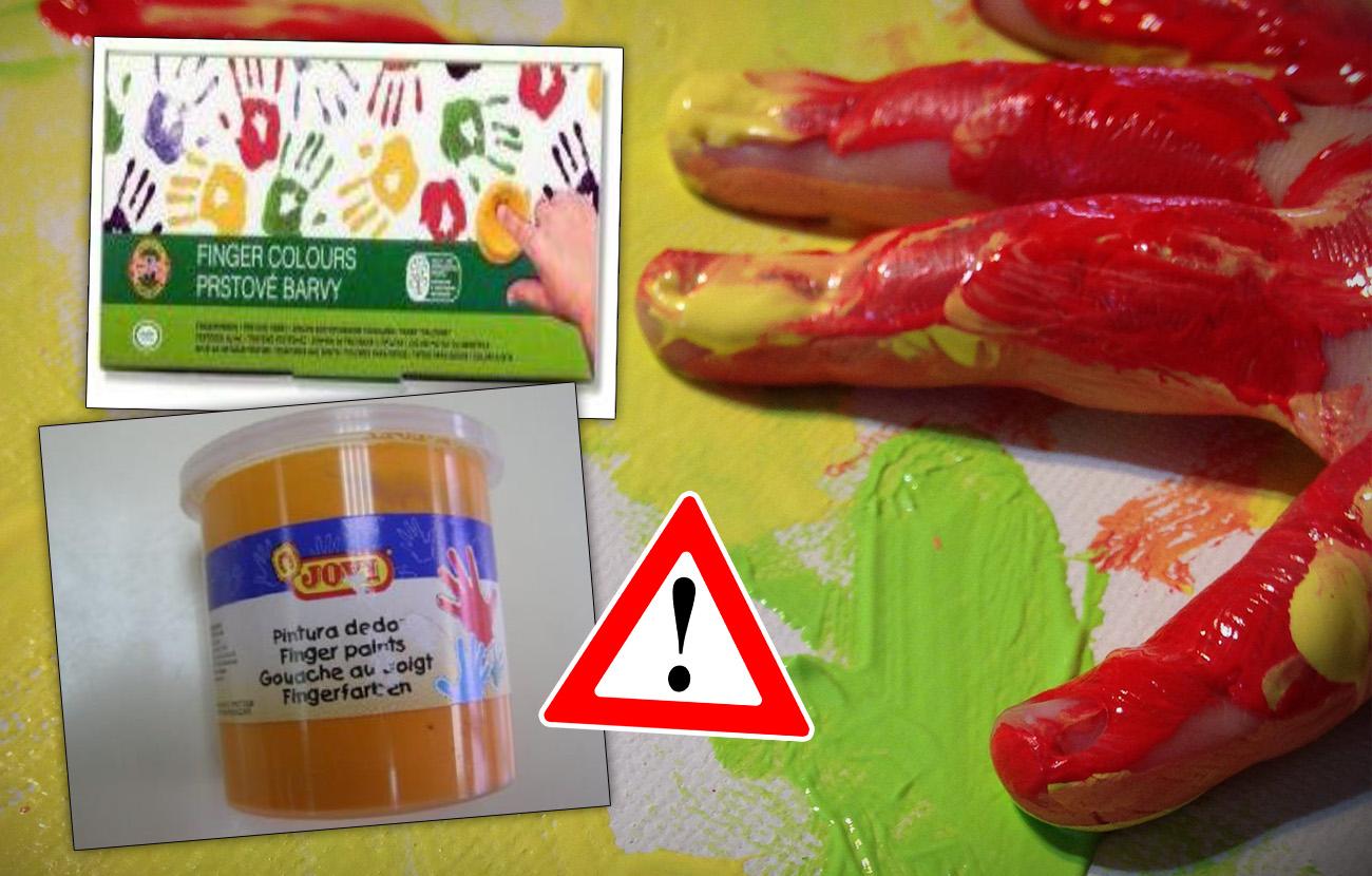 Ampliada la orden de retirada de algunas pinturas Jovi para dedos por riesgo de intoxicación