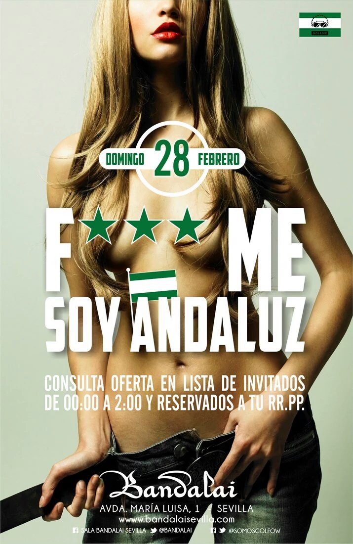 FACUA Sevilla pide a Consumo de la Junta que multe a la discoteca Bandalai por un anuncio machista