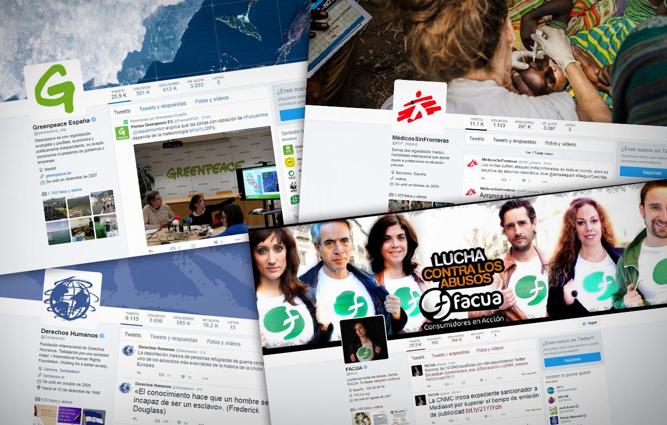 �stas son las 10 ONG espa�olas con m�s seguidores en Twitter en 2016