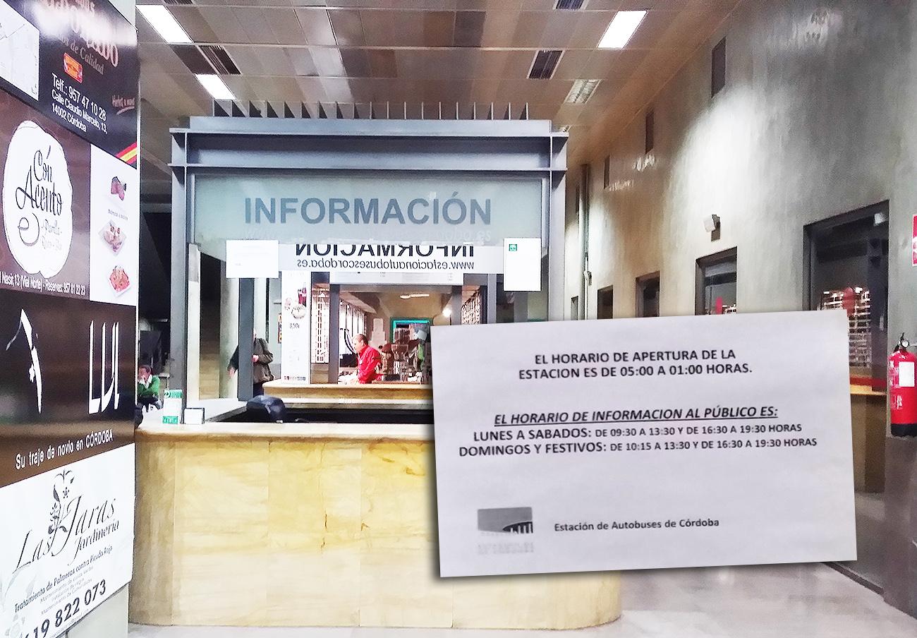 Horario de venta de Estación de Autobuses de Córdoba