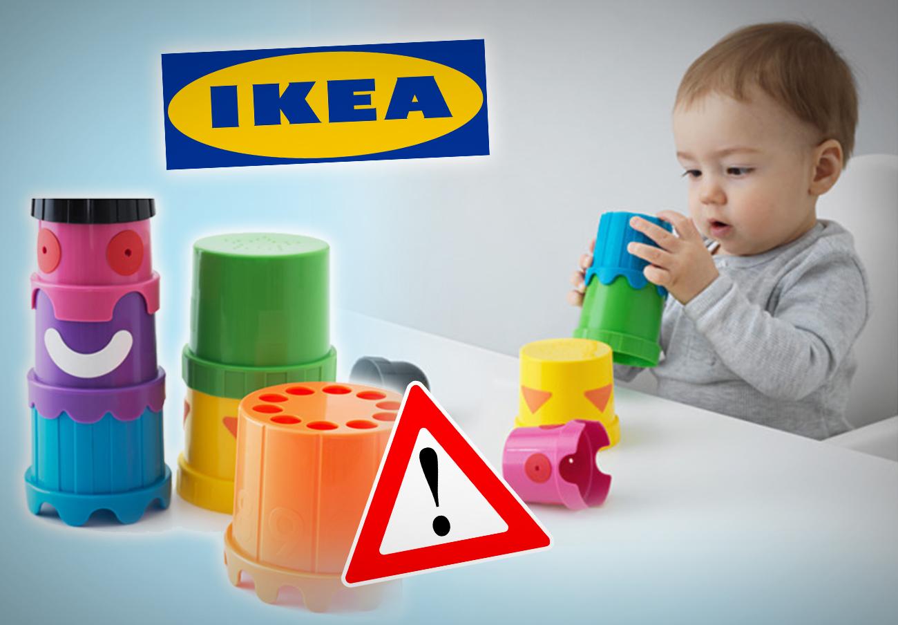 FACUA alerta a Ikea del peligro para los niños de unos agujeros en sus vasos de juguete