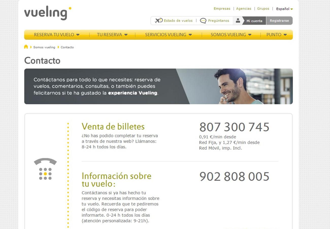 FACUA denuncia a Vueling por gestionar su atención al cliente con un teléfono de tarificación adicional
