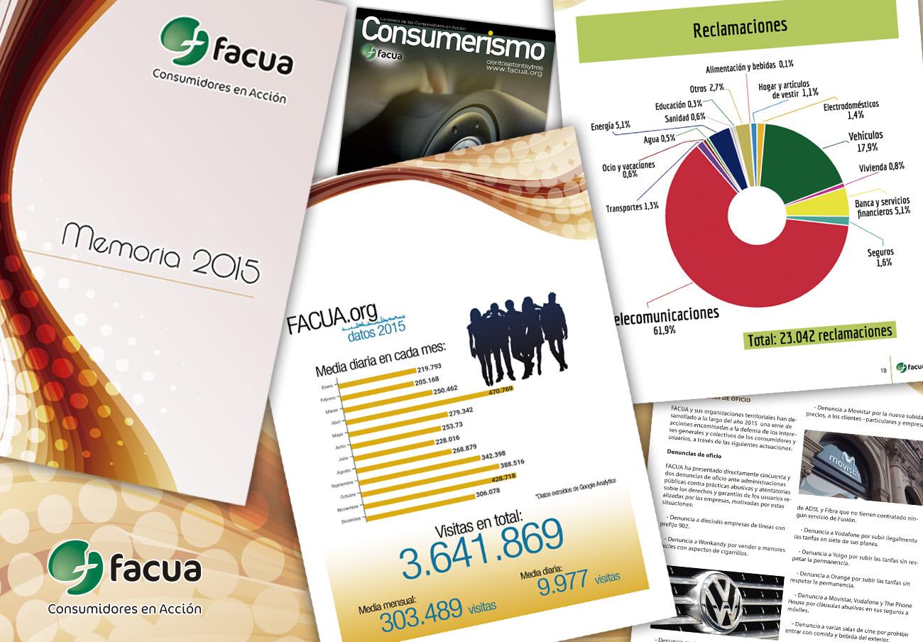 FACUA publica su 'Memoria 2015', el año de mayor crecimiento de toda su historia