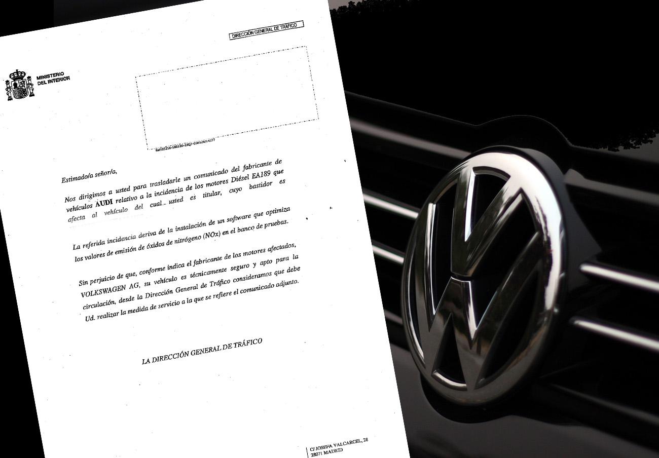 La DGT disfraza en una carta el fraude de Volkswagen en un s...