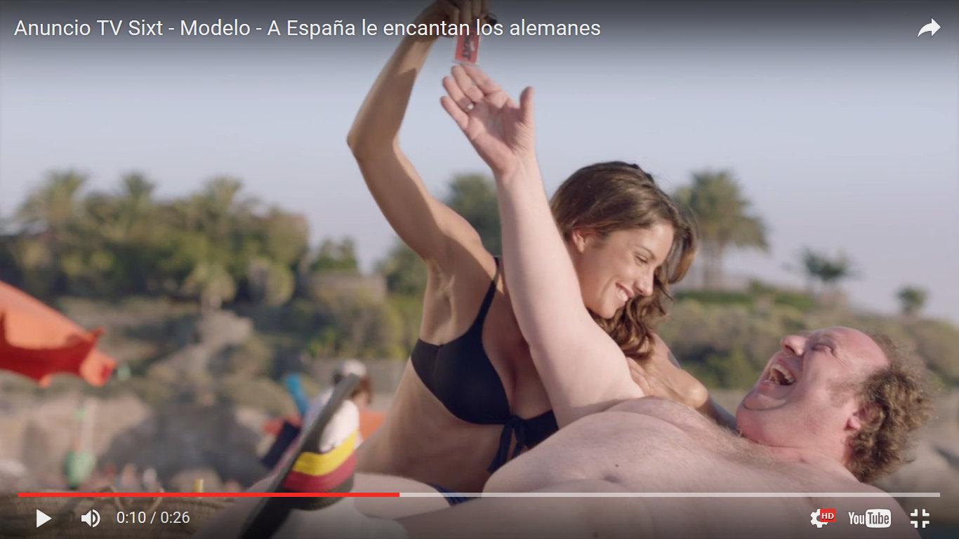 FACUA traslada a la Fiscalía un anuncio machista de la empresa de alquiler de coches Sixt
