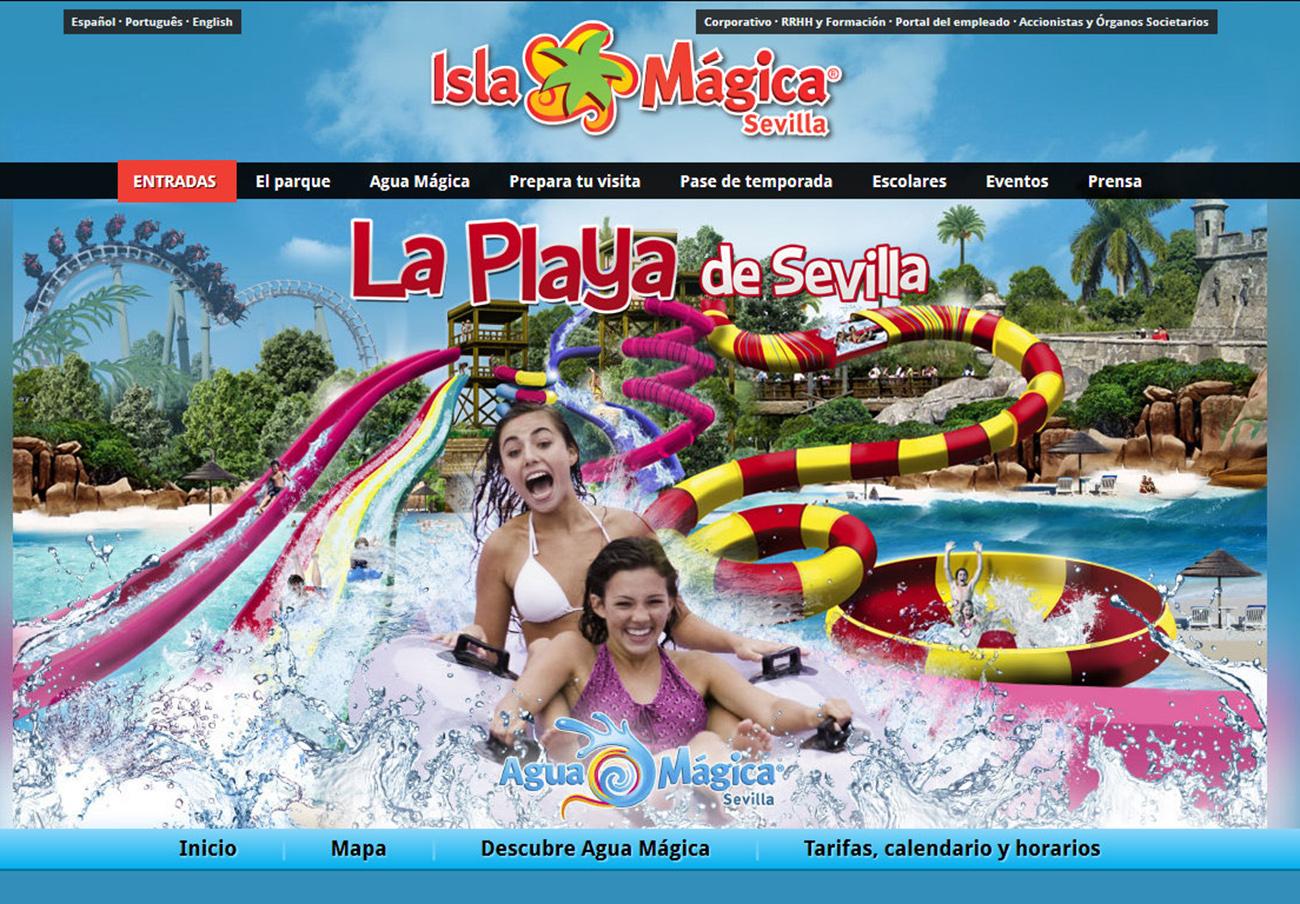 Tras ser multada, la publicidad de Isla Mágica falsea de nuevo las atracciones de su parque acuático