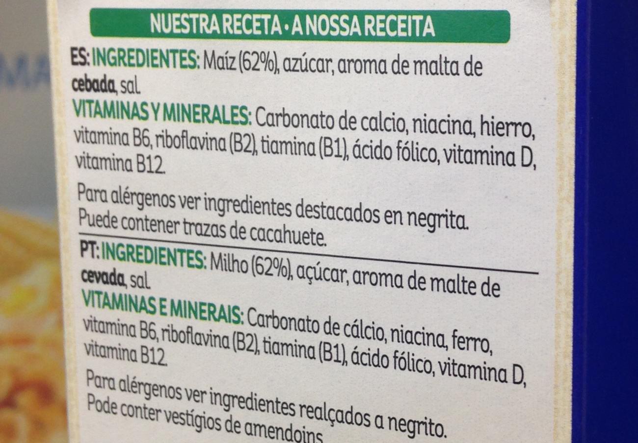 Etiquetado de los cereales Kellogg´s, con alta carga de transgénicos.