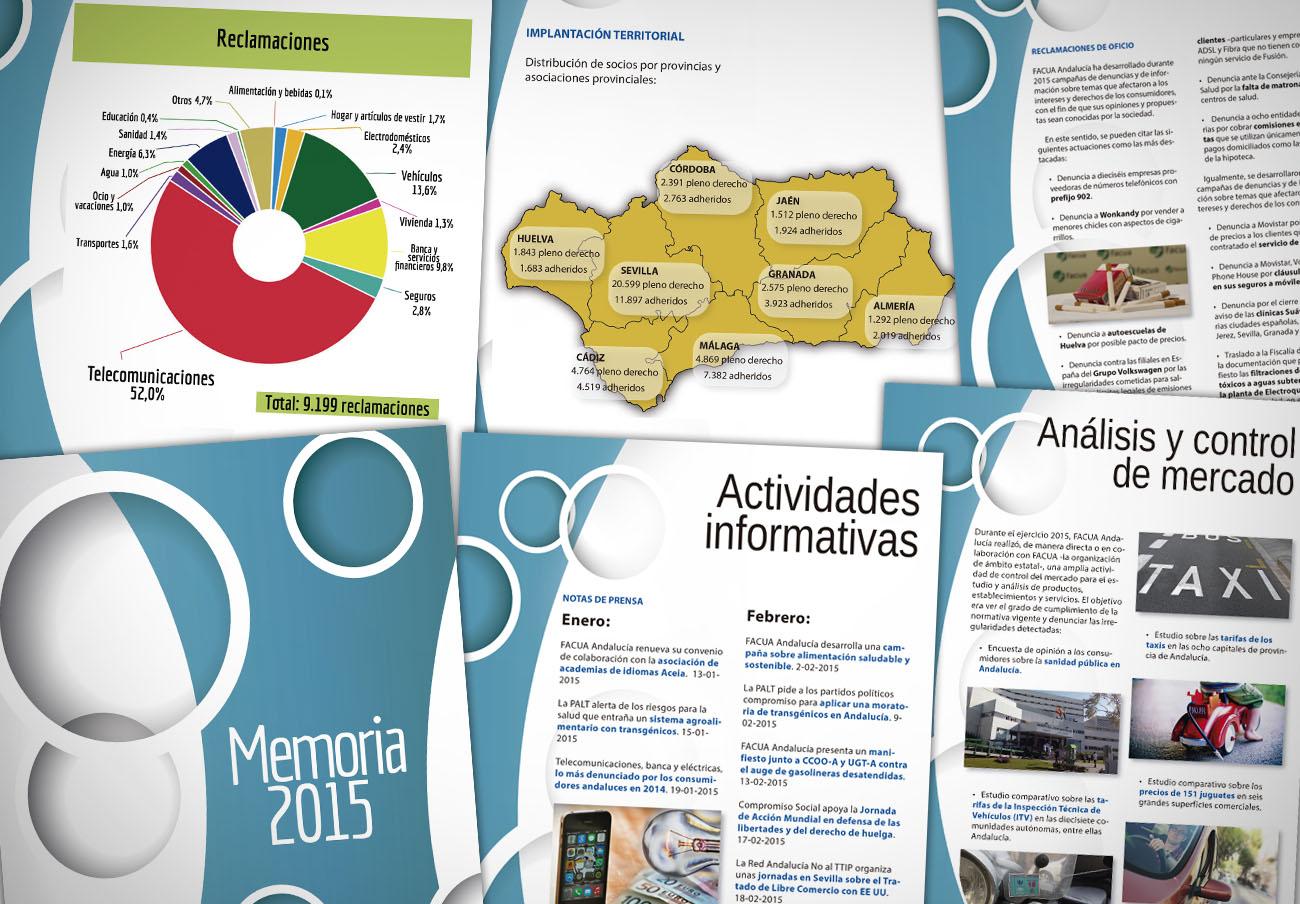 FACUA Andalucía publica su 'Memoria 2015'