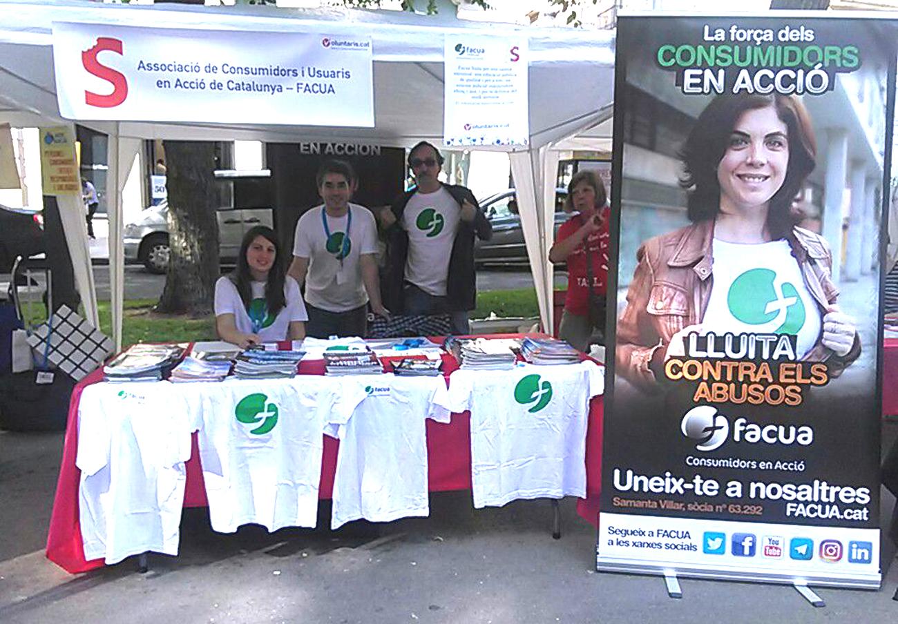 FACUA Catalunya participa en la feria de voluntariado TAST Social de Tarragona