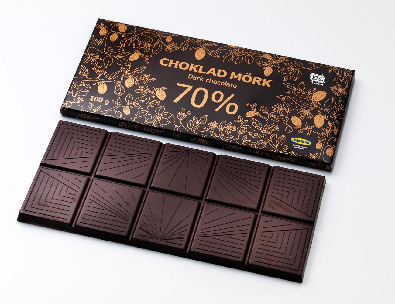 FACUA alerta de la retirada del chocolate Choklad Mörk de Ikea por llevar leche y avellanas no declaradas