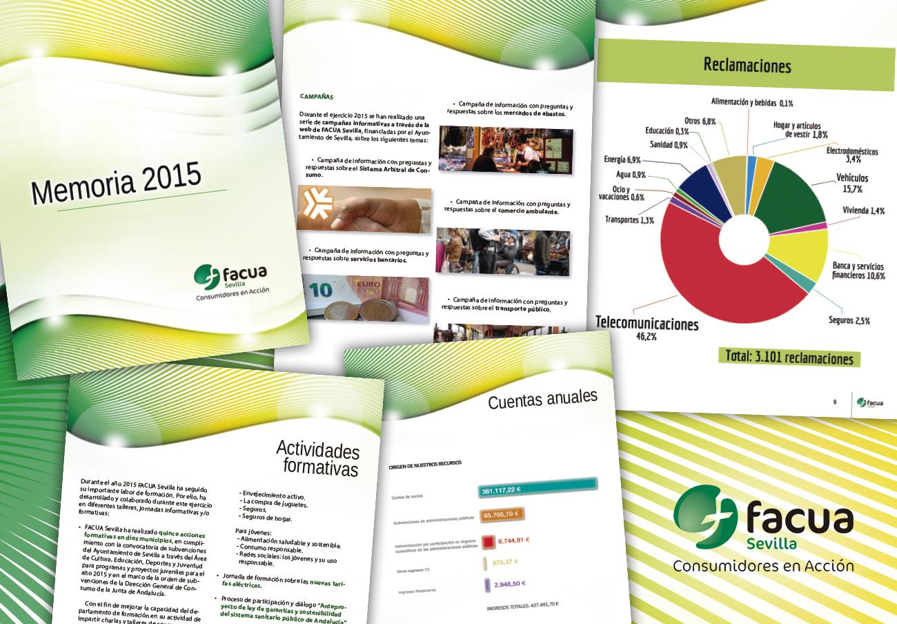 FACUA Sevilla publica su 'Memoria 2015'