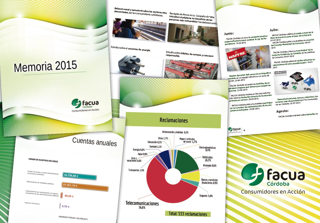 FACUA Córdoba publica su 'Memoria 2015'