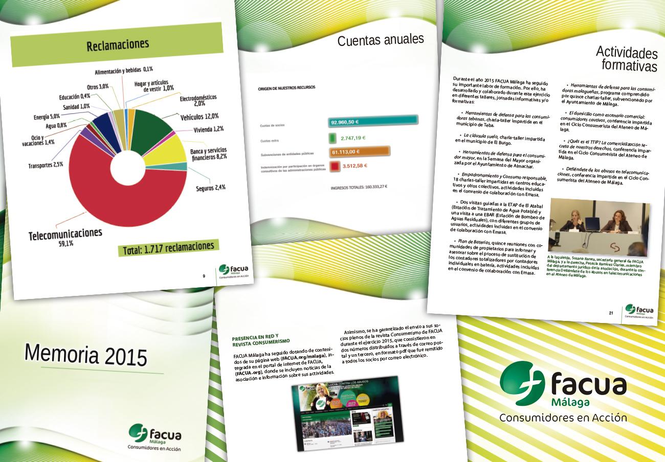 FACUA Málaga publica su 'Memoria 2015'
