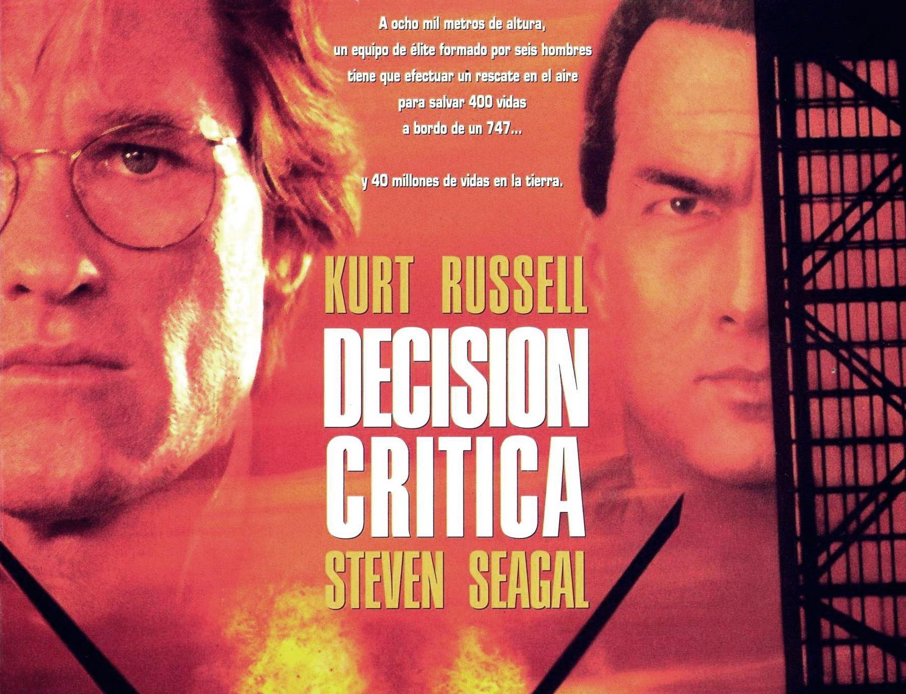 Decisión crítica, una película supuestamente protagonizada por Steven Seagal, cuyo personaje muere nada más comenzar. | Imagen: Warner Bros y Silver Pictures.