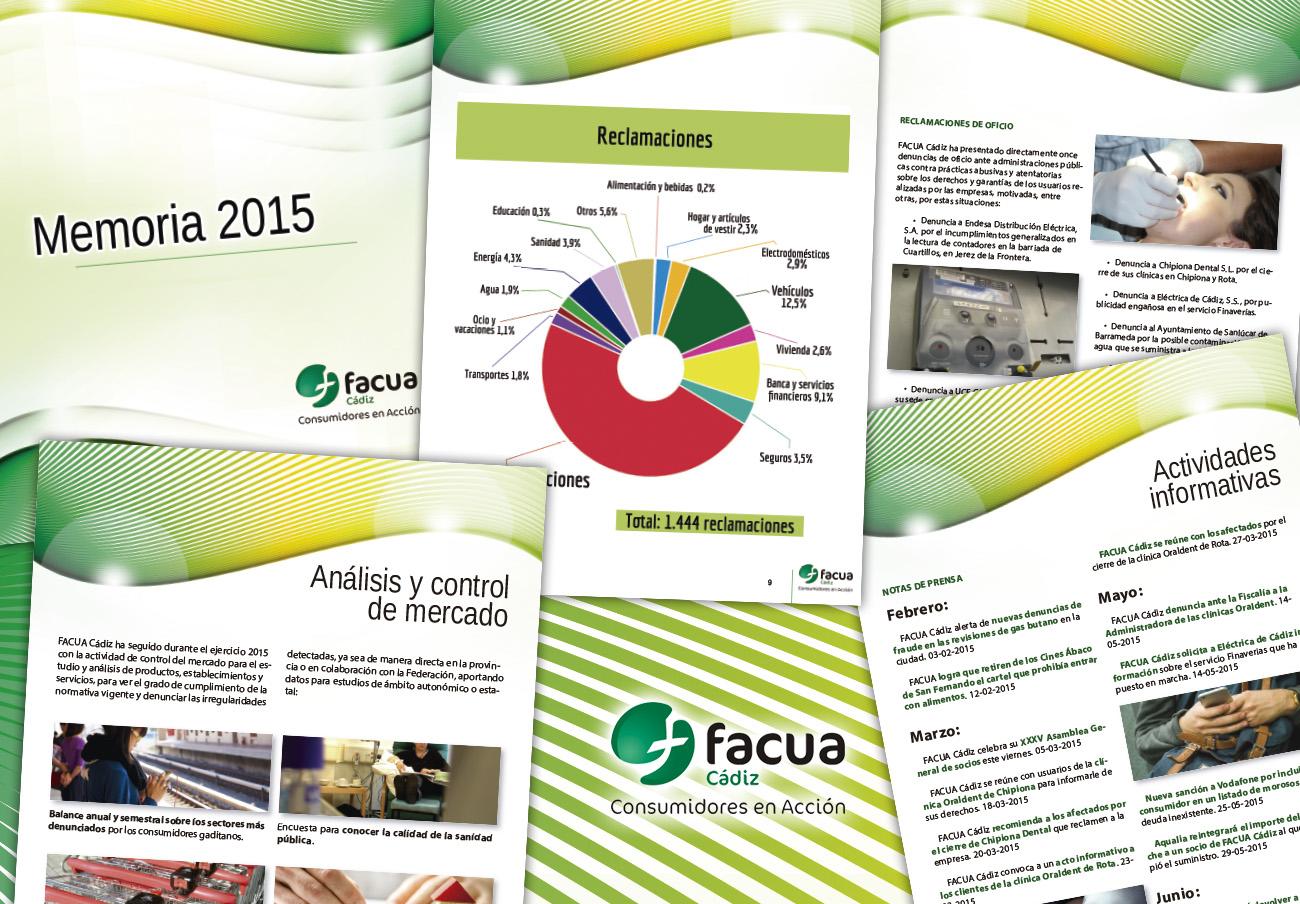 FACUA Cádiz publica su 'Memoria 2015'
