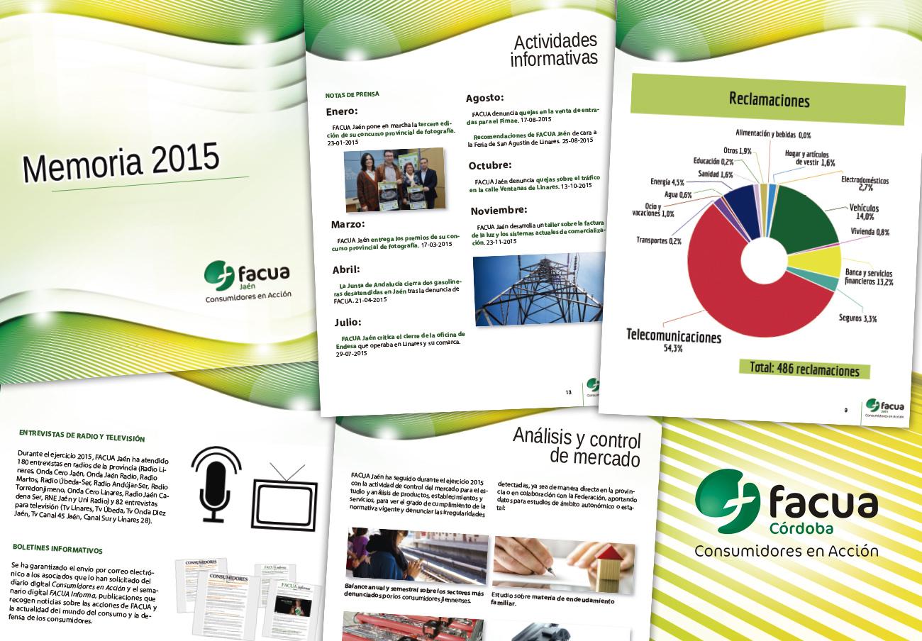 FACUA Jaén publica su 'Memoria 2015'