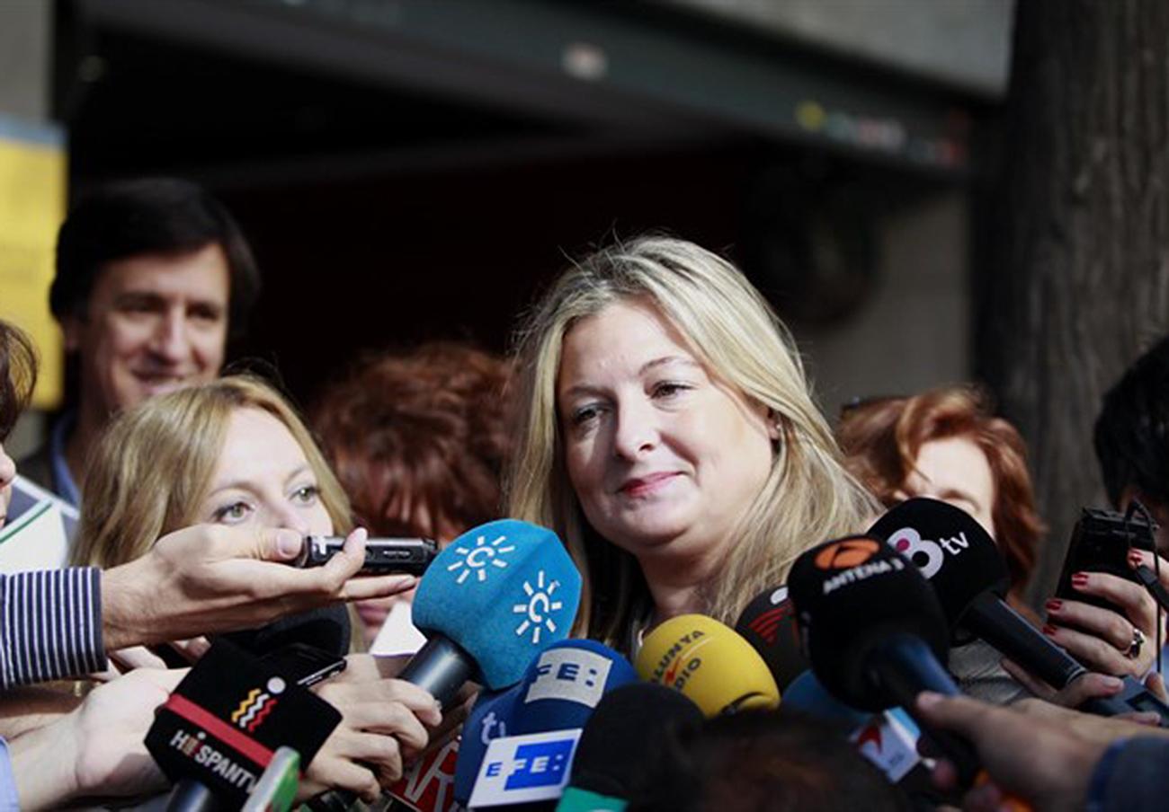 La portavoz y directora jurídica de Manos Limpias, Virginia López Negrete, imputada en el caso Ausbanc