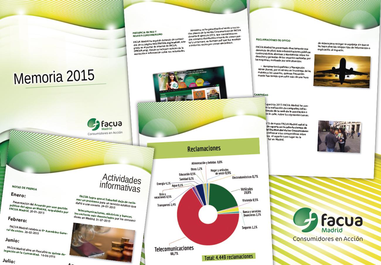 FACUA Madrid publica su 'Memoria 2015'