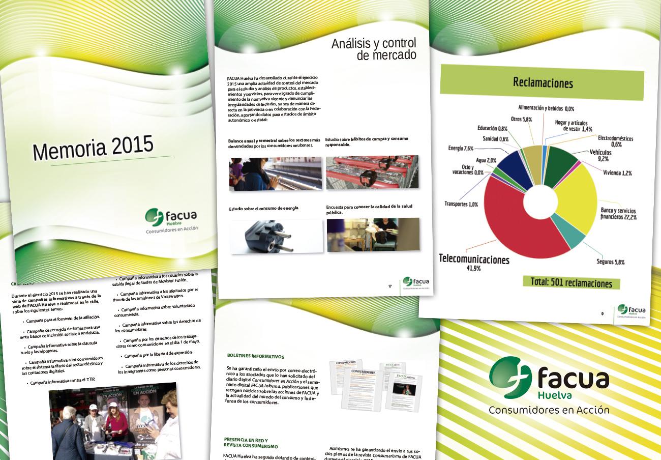 FACUA Huelva publica su 'Memoria 2015'