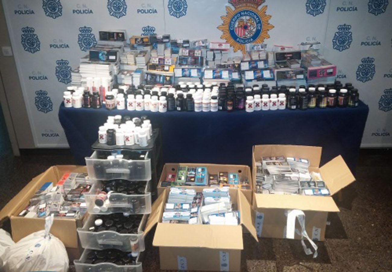 La Policía detiene a un matrimonio por distribuir productos nutricionales adulterados con anabolizantes