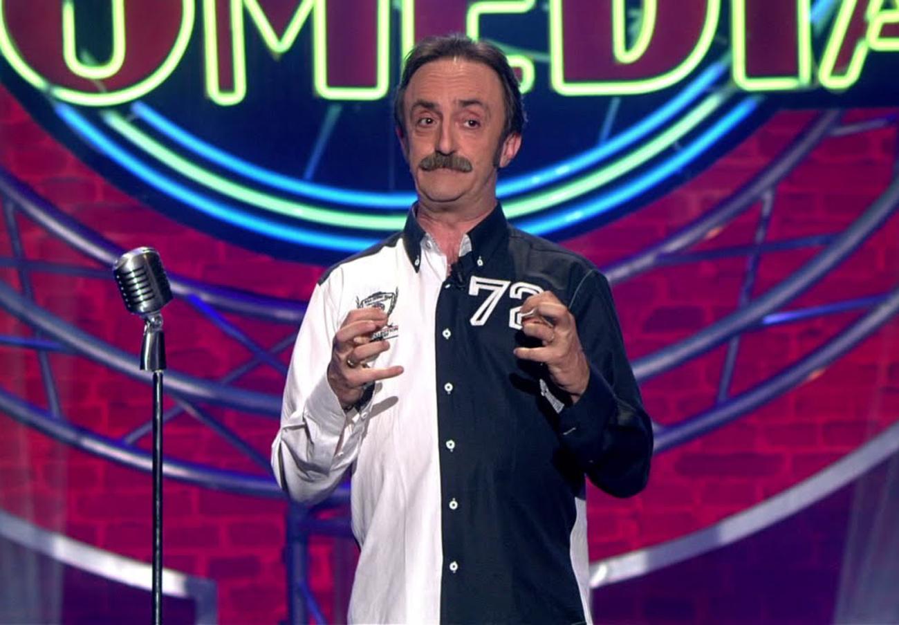 El humorista, durante una de sus actuaciones en El club de la comedia.