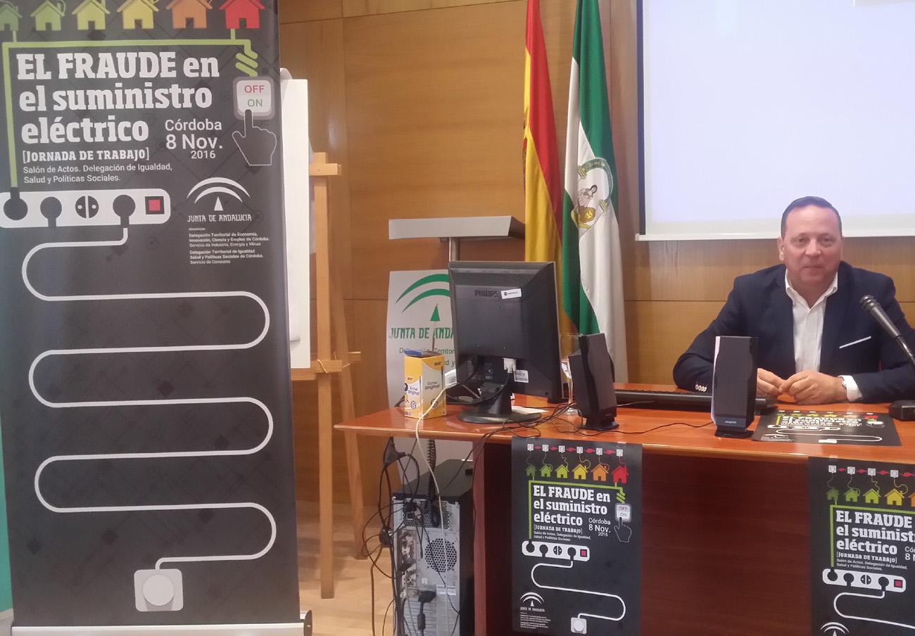 FACUA Córdoba participa en unas jornadas sobre el fraude en el suministro eléctrico