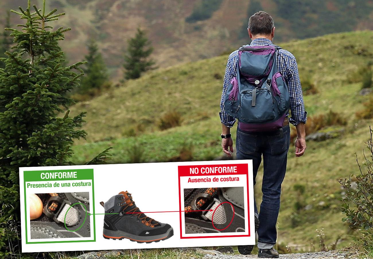 FACUA alerta del riesgo de caída al usar las botas Quechua Forclaz 500 High vendidas en Decathlon