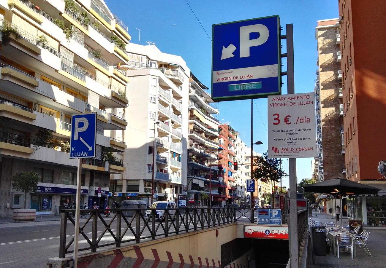FACUA Sevilla reclama al parking de Virgen de Luján que corrija la publicidad engañosa de sus tarifas