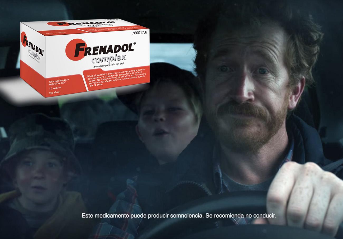 FACUA denuncia la publi de Frenadol: sale un enfermo al volante y en letra pequeña recomienda no conducir
