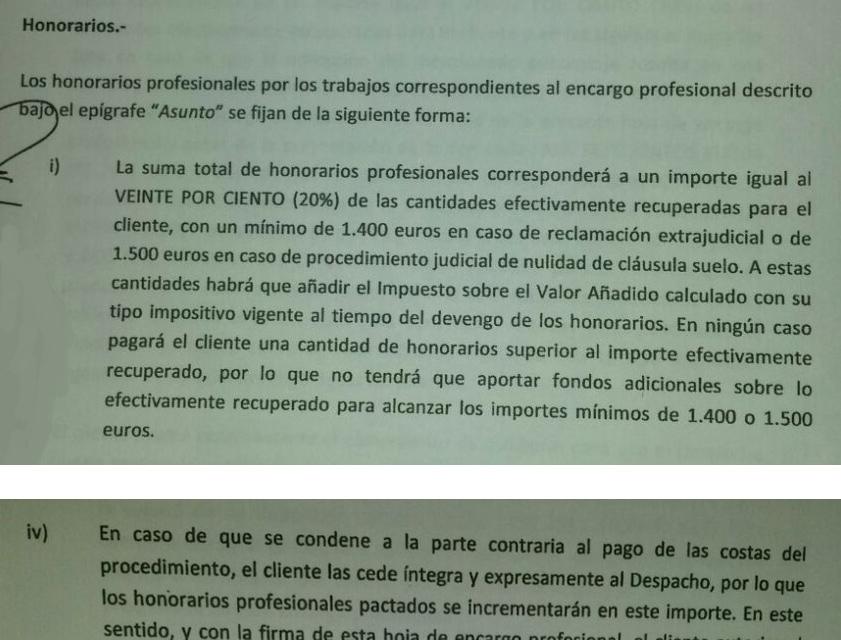 Facua advierte de despachos de abogados que llegan a for Reclamacion cantidad clausula suelo