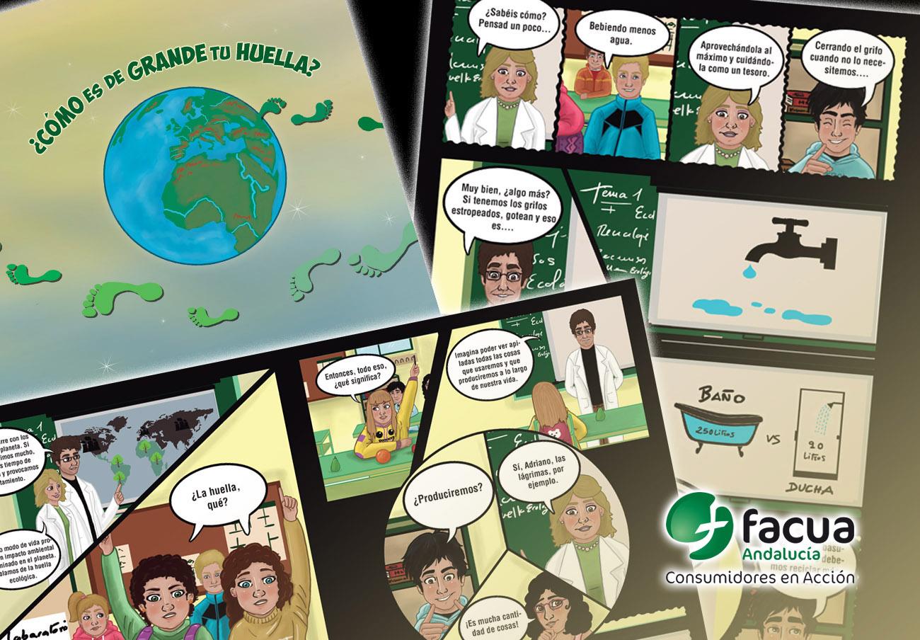 FACUA Andalucía edita un cómic para fomentar el consumo sostenible en alumnos de 500 colegios públicos