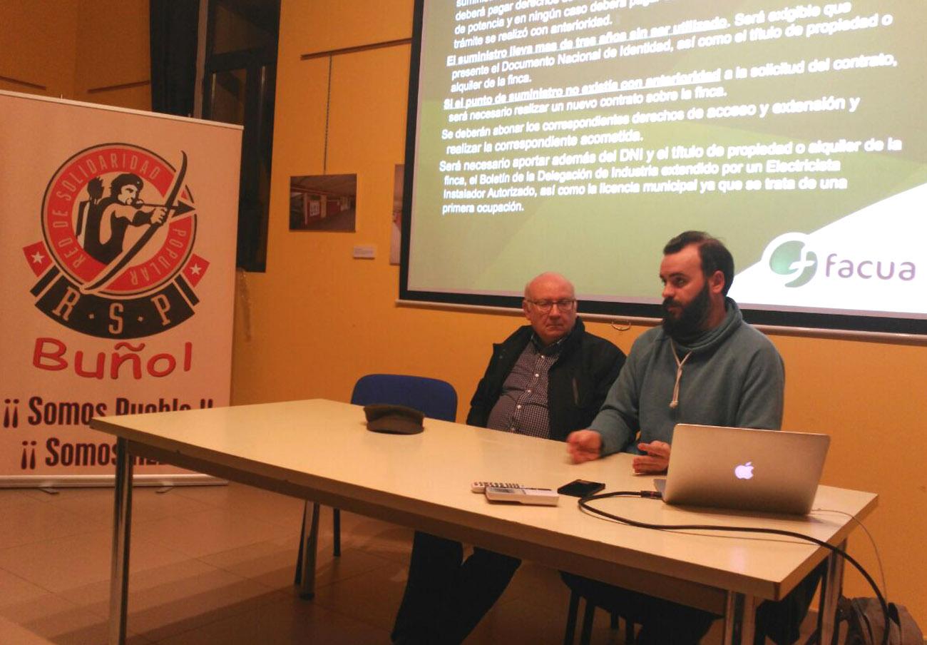 FACUA Comunidad Valenciana ofrece una charla sobre el sector eléctrico en Buñol