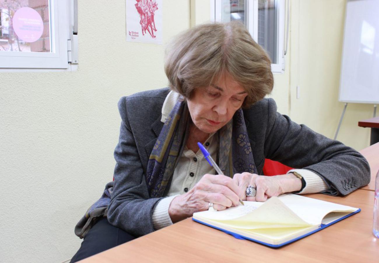 Susan George en una reciente visita a España. | Imagen: Susana Ye-cuartopoder.es (CC BY-NC 3.0 ES).