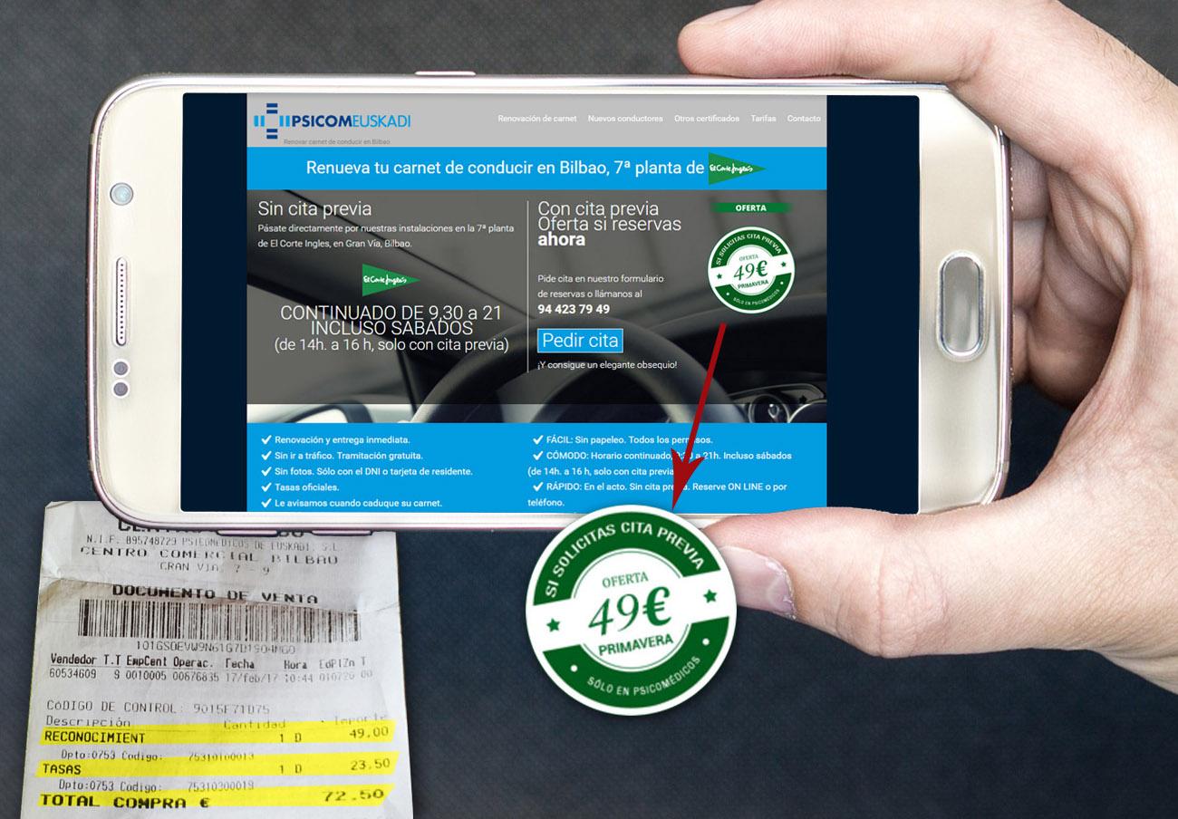 FACUA denuncia por publicidad engañosa a Psicomeuskadi por el precio de renovación del carné de conducir