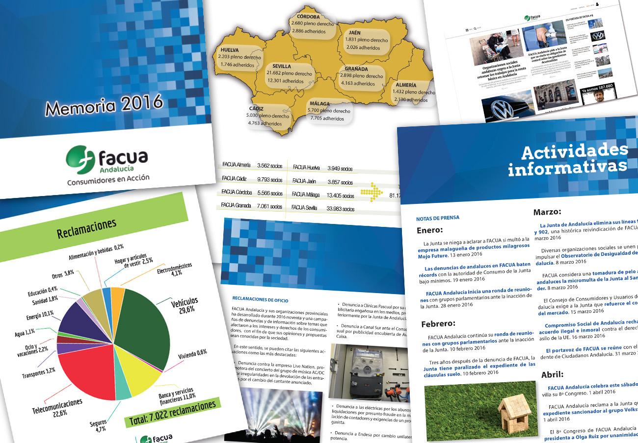 FACUA Andalucía publica su 'Memoria 2016'