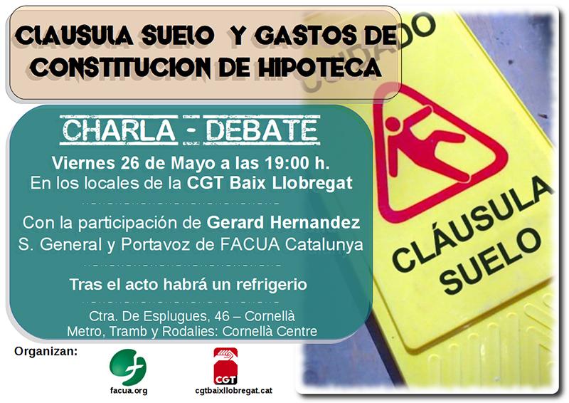 Facua Catalunya Imparte Una Charla Sobre Las Cl Usulas