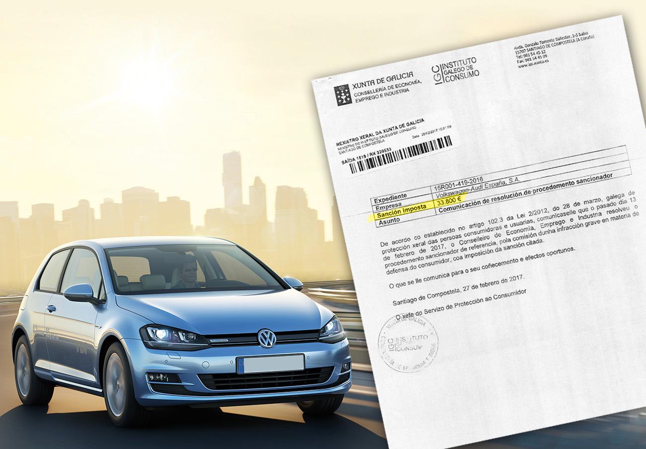 FACUA logra la primera multa a Volkswagen, en Galicia: 33.800 euros, el doble del valor del Golf afectado